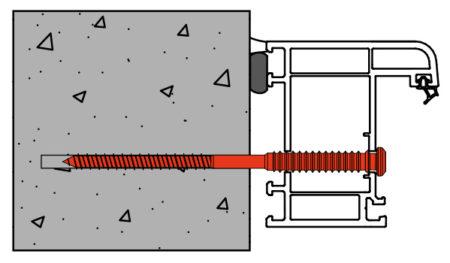 Vis de pose réglables SPTR-V8 menuiserie PVC support béton