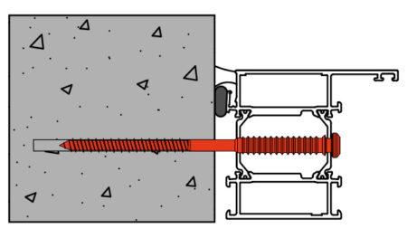 Vis de pose réglables SPTR-V8 menuiserie aluminium support béton