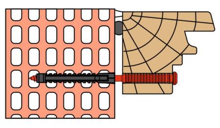 Vis de pose réglables SPTR-V8 menuiserie bois support brique